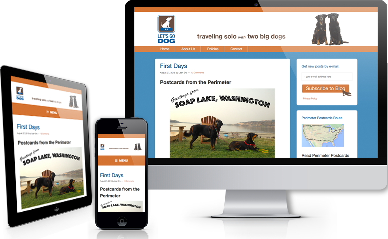 LetsGoDog.com screenprint