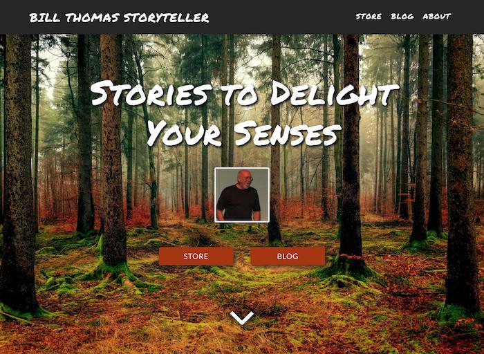 BillThomasStoryteller.com landing page