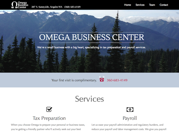 OmegaTax.com screenshot